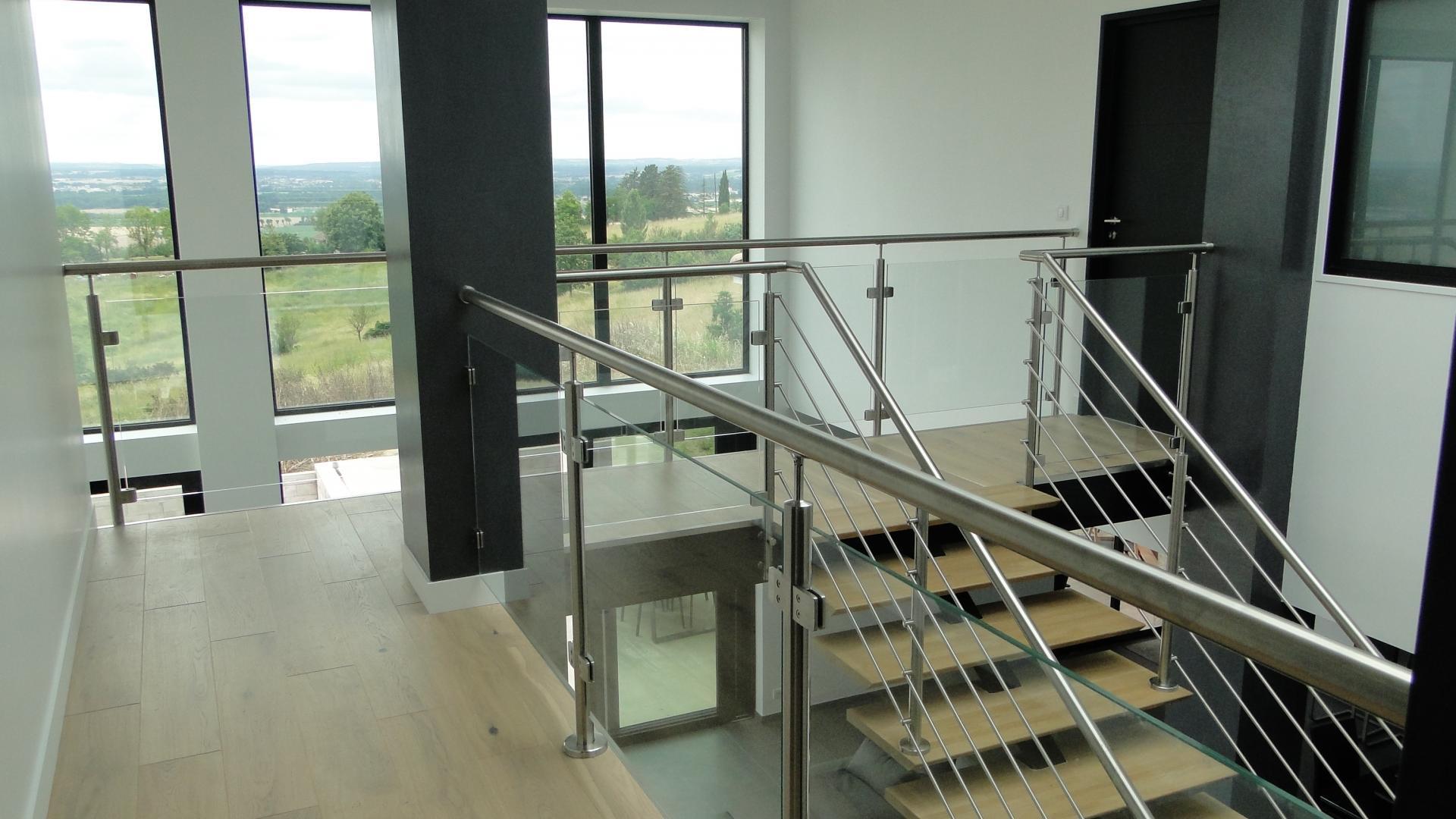 balustrade inox verre montauban toulouse albi rjs construction inox. Black Bedroom Furniture Sets. Home Design Ideas
